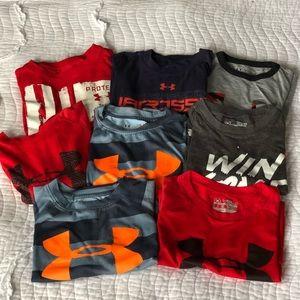 Under Armour Size Small 6 7 8 Boys T-shirt Bundle